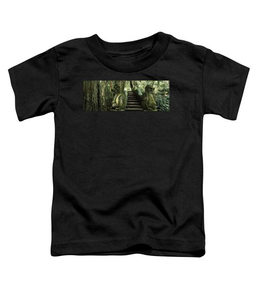 Statue Of Dragons In A Temple, Bathing Toddler T-Shirt