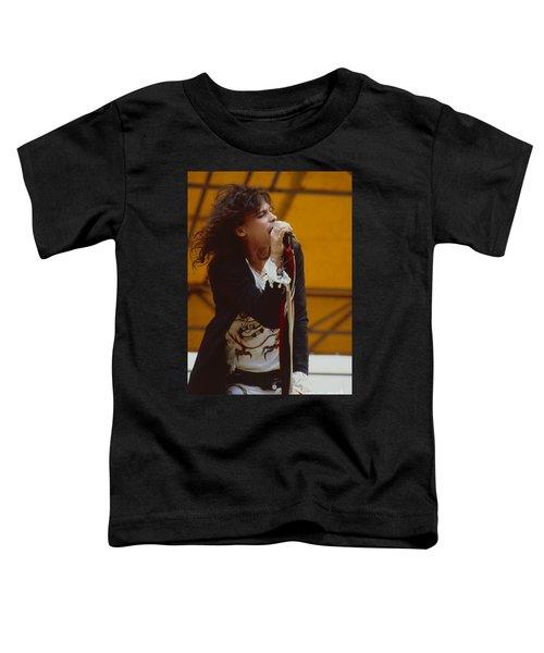 Steven Tyler Of Aerosmith At Monsters Of Rock In Oakland Ca Toddler T-Shirt