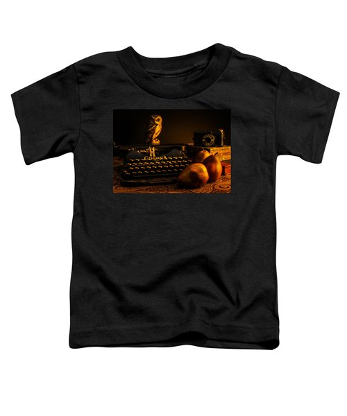 Still Life - Pears And Typewriter Toddler T-Shirt