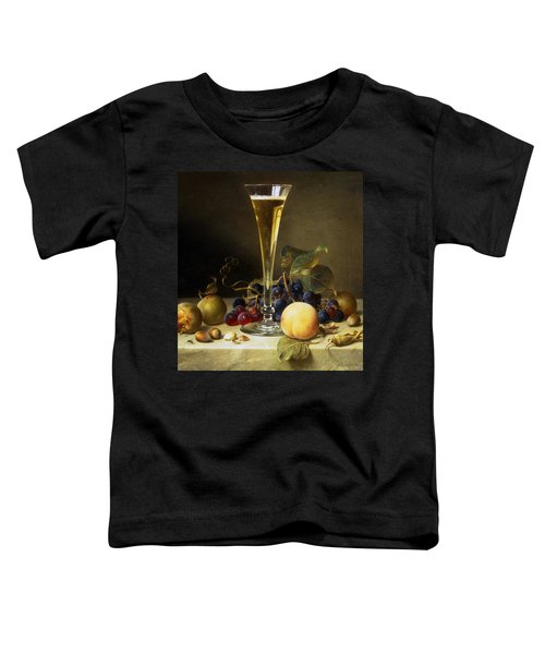 Still Life With A Glass Of Champagne Toddler T-Shirt