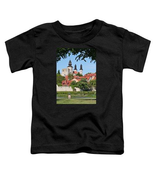 Summer Green Medieval Town Toddler T-Shirt