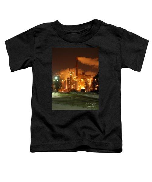 Sunila Pulp Mill By Winter Night Toddler T-Shirt