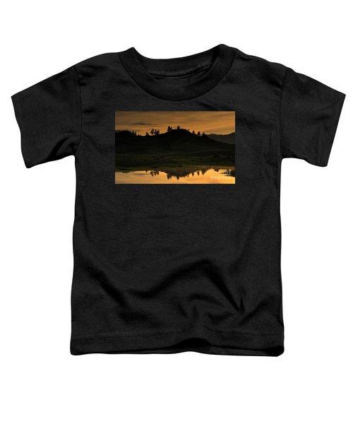 Sunrise Behind A Yellowstone Ridge Toddler T-Shirt