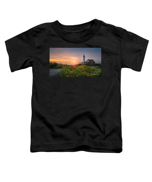 Sunrise Bliss At Portland Lighthouse Toddler T-Shirt