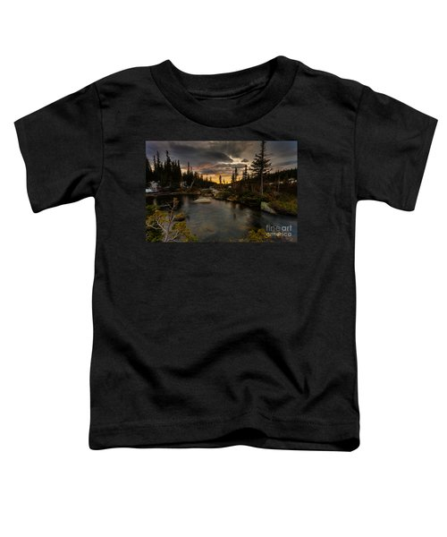 Sunrise In The Indian Peaks Toddler T-Shirt