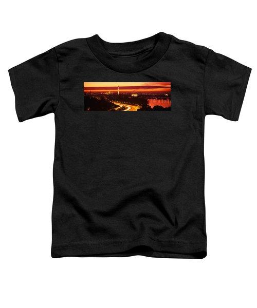 Sunset, Aerial, Washington Dc, District Toddler T-Shirt