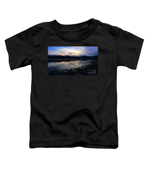 Sunset At A Lake Near Mammoth In Yellowstone Toddler T-Shirt