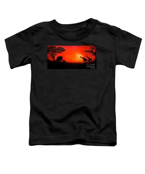 Sunset At Serengeti Toddler T-Shirt