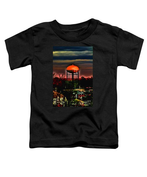 Sunset On A Charlotte Water Tower By Diana Sainz Toddler T-Shirt