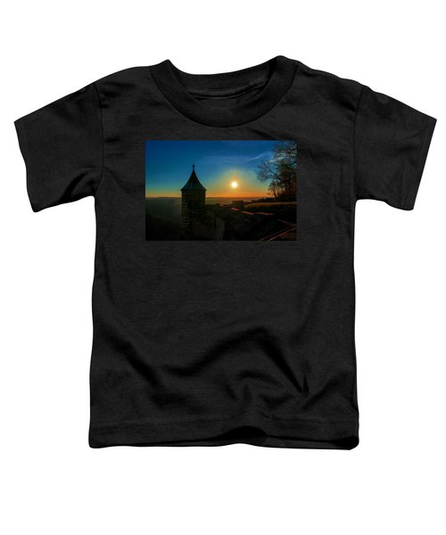 Sunset On The Fortress Koenigstein Toddler T-Shirt