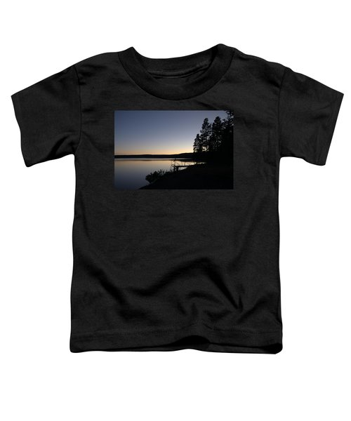 Sunset Over Yellowstone Lake Toddler T-Shirt