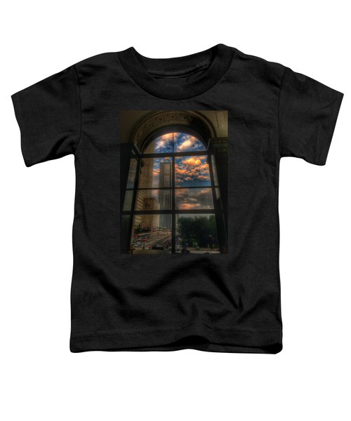 Sunset View Of Chicago Toddler T-Shirt