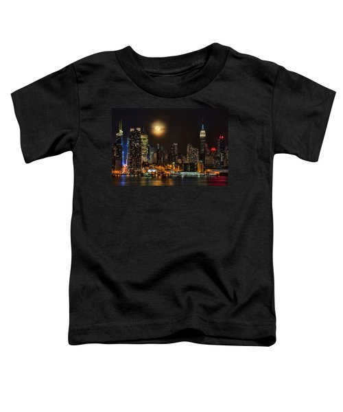 Super Moon Over Nyc Toddler T-Shirt