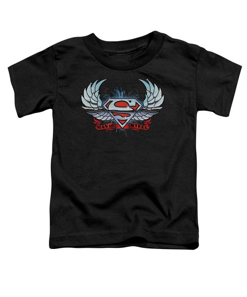 Superman - Chrome Wings Shield Toddler T-Shirt