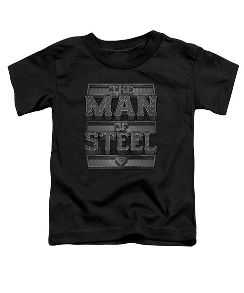 Superman - Steel Text Toddler T-Shirt