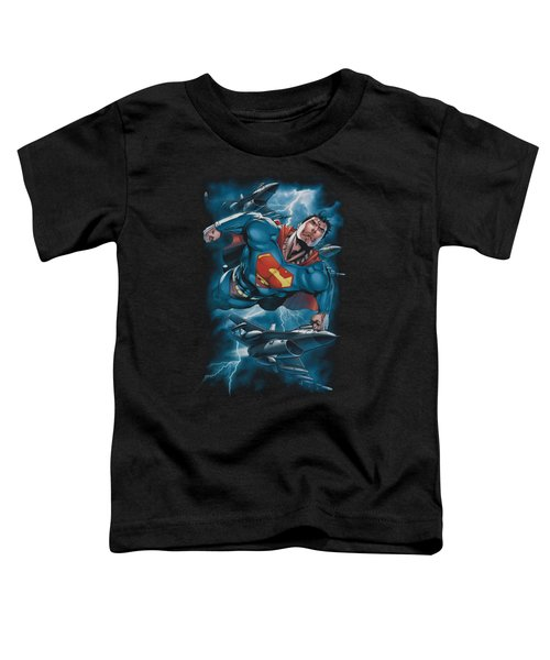 Superman - Stormy Flight Toddler T-Shirt