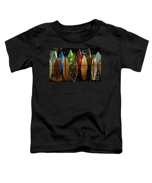 Surfboard Fence 4 Toddler T-Shirt