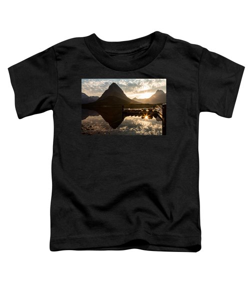 Swiftcurrent Lake Boats Reflection And Flare Toddler T-Shirt