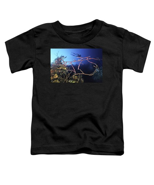 Swimming Over The Edge Toddler T-Shirt