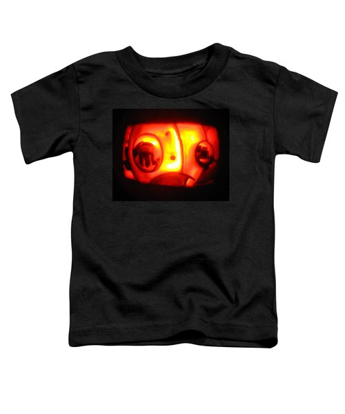 Toddler T-Shirt featuring the sculpture Tarboy Pumpkin by Shawn Dall
