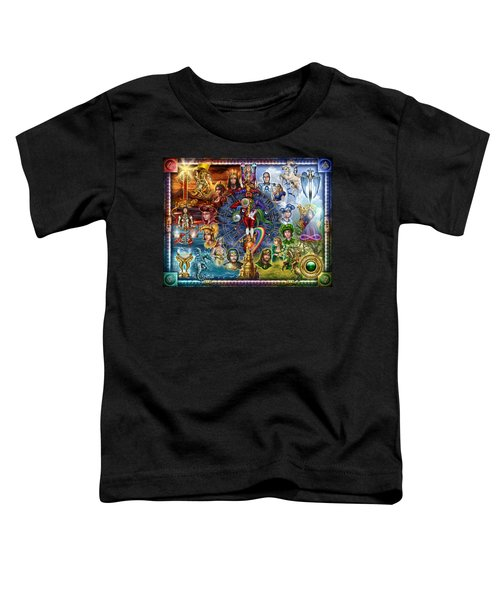 Tarot Of Dreams Toddler T-Shirt by Ciro Marchetti