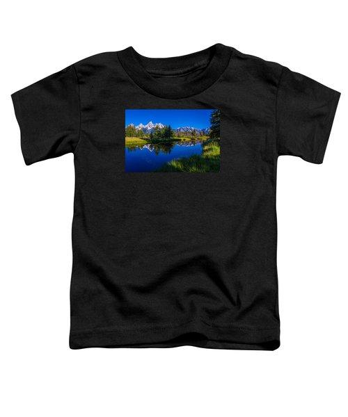 Teton Reflection Toddler T-Shirt by Chad Dutson