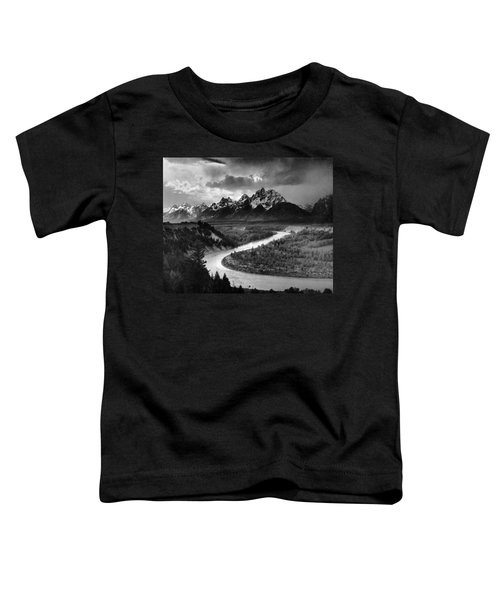 Tetons And The Snake River Toddler T-Shirt