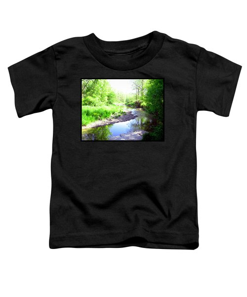 Toddler T-Shirt featuring the photograph The Babbling Stream by Shawn Dall