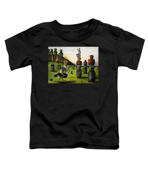 The Battle Over Easter Island Toddler T-Shirt by Leah Saulnier The Painting Maniac