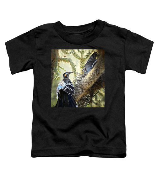 The Dove Vs. The Roadrunner Toddler T-Shirt by Saija  Lehtonen