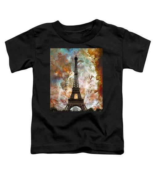 The Eiffel Tower - Paris France Art By Sharon Cummings Toddler T-Shirt