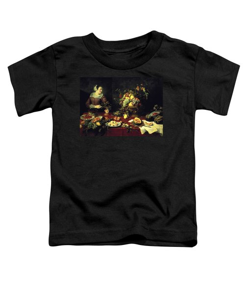 The Fruit Bowl Oil On Canvas Toddler T-Shirt