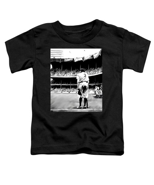 The Greatest Of All  Babe Ruth Toddler T-Shirt by Iconic Images Art Gallery David Pucciarelli