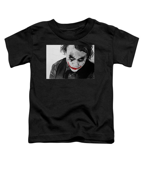 The Joker Toddler T-Shirt by Robert Bateman