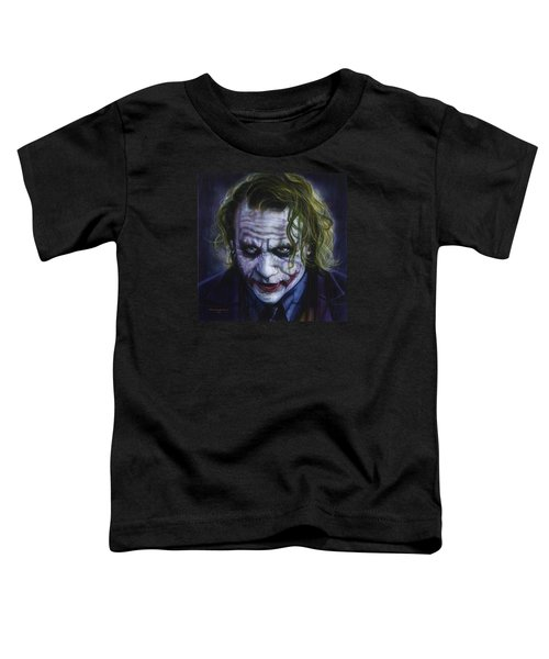 The Joker Toddler T-Shirt by Timothy Scoggins