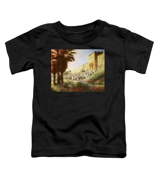 The King Is Coming  Jerusalem Toddler T-Shirt