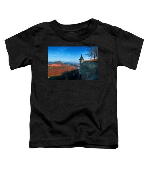 The Lilienstein Behind The Fortress Koenigstein Toddler T-Shirt