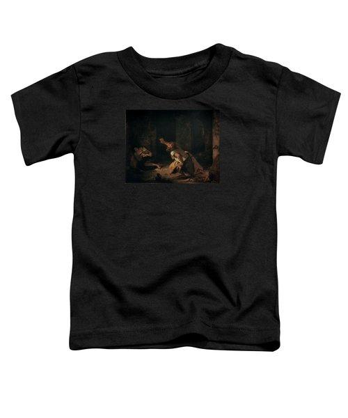 The Prisoner Of Chillon Toddler T-Shirt by Ferdinand Victor Eugene Delacroix