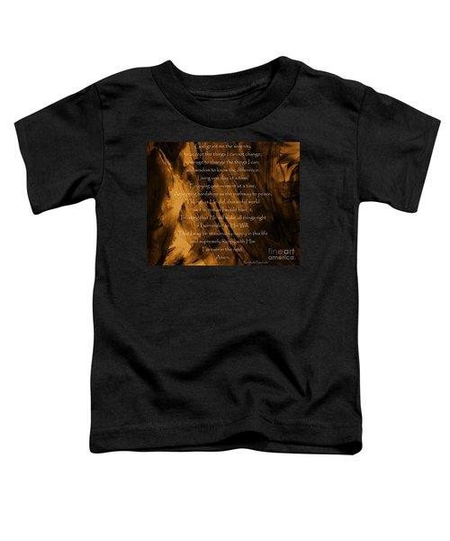 The Serenity Prayer Toddler T-Shirt