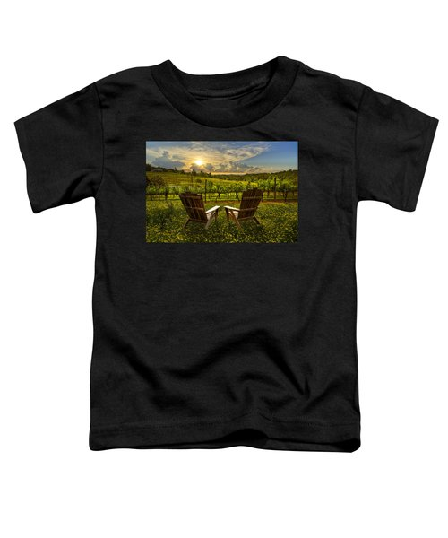 Toddler T-Shirt featuring the photograph The Vineyard   by Debra and Dave Vanderlaan