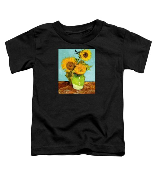 Three Sunflowers In A Vase Toddler T-Shirt