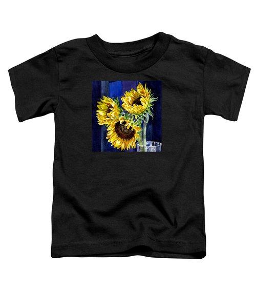 Three Sunny Flowers Toddler T-Shirt