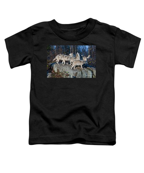 Timber Wolf Pack Toddler T-Shirt