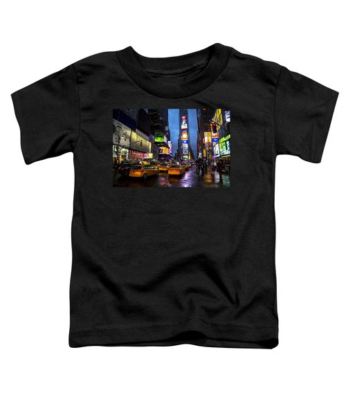 Times Square In The Rain Toddler T-Shirt