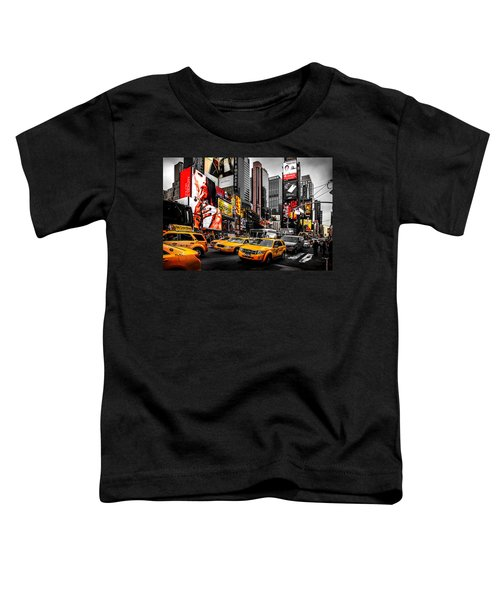 Times Square Taxis Toddler T-Shirt by Az Jackson