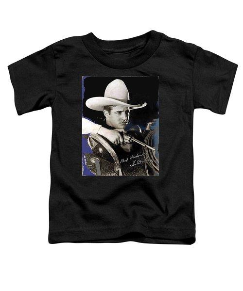 Tom Mix Portrait Melbourne Spurr Hollywood California C.1925-2013 Toddler T-Shirt