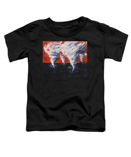 Toddler T-Shirt featuring the painting Apocalyptic Dream by Yulia Kazansky