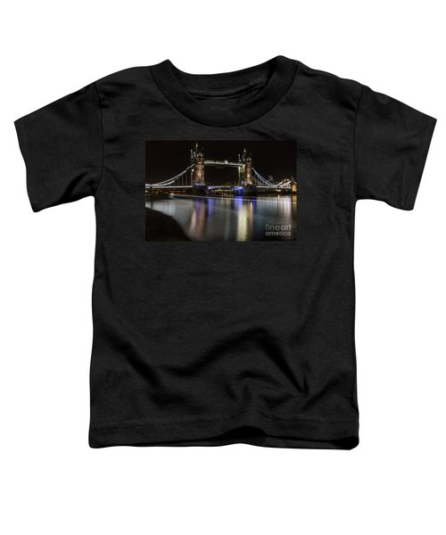 Tower Bridge With Boat Trails Toddler T-Shirt