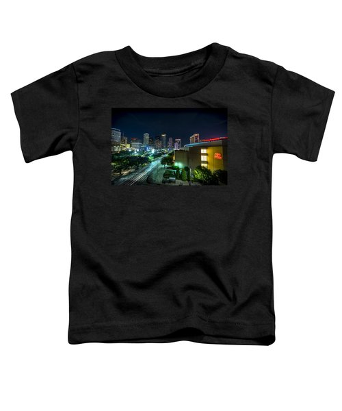 Toyota Center And Downtown Houston Toddler T-Shirt