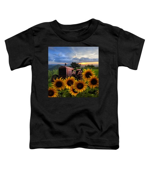 Toddler T-Shirt featuring the photograph Tractor Heaven by Debra and Dave Vanderlaan